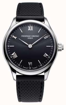 Frederique Constant Homens | vitalidade | smartwatch | mostrador preto | borracha preta FC-287B5B6