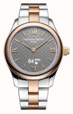 Frederique Constant Mulheres | vitalidade | smartwatch | mostrador cinza | dois tons FC-286BG3B2B