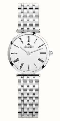 Michel Herbelin | mulheres | épsilon | pulseira de aço inoxidável | mostrador branco | 17116/B01N