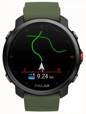 Polar | grão x | edição limitada | caixa preta | silicone verde | pulseira eletrônica 90084210