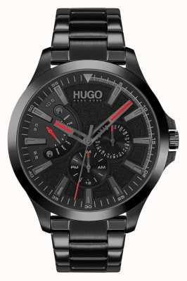 HUGO #leap casual | mostrador preto | pulseira ip preta 1530175