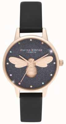 Olivia Burton Relógio vegan de discagem midi da abelha afortunada do arco-íris OB16FB13