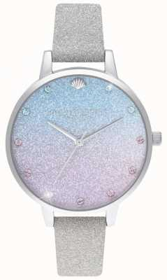 Olivia Burton Brilho ombre demi dial, marcadores de brilho pulseira de brilho OB16US49