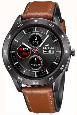 Lotus Homens | smartime | pulseira de couro marrom + pulseira grátis 50012/1