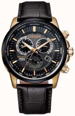 Citizen Calibre 8700 relógio perpétuo do calendário | couro marrom escuro BL8156-12E