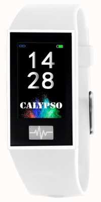 Calypso Unissex | smartime | pulseira de silicone branco + pulseira grátis K8500/1