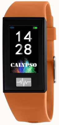 Calypso Unissex | smartime | pulseira de silicone laranja + pulseira grátis K8500/3