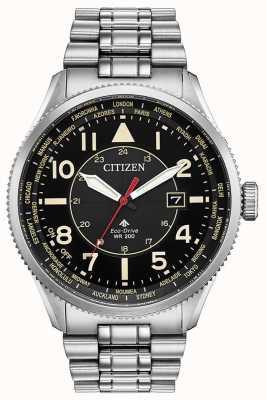 Citizen Relógio eco-drive promaster nighthawk em aço inoxidável BX1010-53E