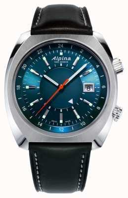 Alpina Startimer piloto património automóvel | pulseira de couro preto | AL-555N4H6