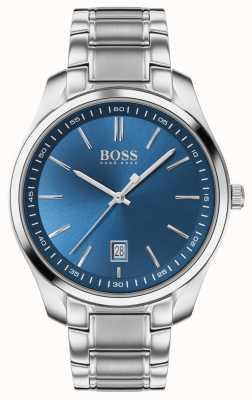 BOSS Circuito esporte lux   pulseira de aço inoxidável   mostrador azul 1513731