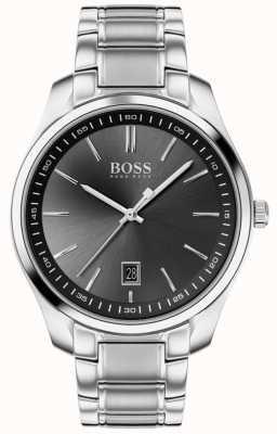 BOSS Circuito esporte lux   pulseira de aço inoxidável   mostrador preto 1513730