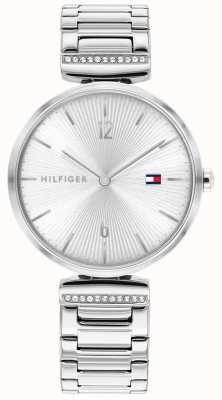 Tommy Hilfiger | mulheres | ária | pulseira de prata de aço inoxidável | mostrador prateado | 1782273