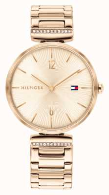 Tommy Hilfiger | mulheres | ária | pulseira de aço ouro rosa | mostrador em ouro rosa | 1782271