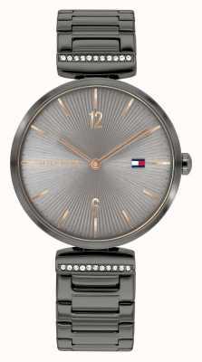 Tommy Hilfiger | mulheres | ária | pulseira de aço cinza metal | mostrador cinza | 1782276