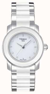 Tissot Relógio cravejado de diamantes cera 28 mm feminino T0642102201600
