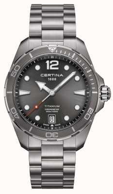 Certina Ação Ds | pulseira de titânio | mostrador cinza | cosc C0324514408700
