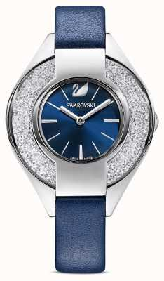 Swarovski | desportivo cristalino | pulseira de couro azul | mostrador azul | 5547629