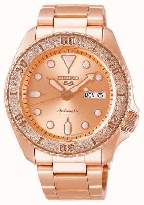 Seiko Rosa-ouro | mens | automático | esportes | pulseira SRPE72K1