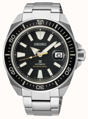 Seiko Prospex king samurai | pulseira de aço inoxidável | mostrador preto SRPE35K1
