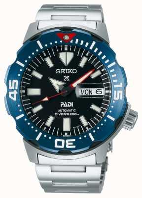 Seiko Prospex masculino | padi | pulseira de aço inoxidável | mostrador preto SRPE27K1