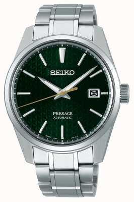 Seiko Presage   automático   mostrador verde   aço inoxidável SPB169J1