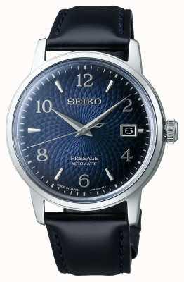 Seiko Presage   coquetel   mostrador azul   automático   relógio antigo SRPE43J1