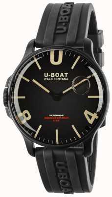 U-Boat Darkmoon 44 mm ipb preto | tira de borracha 8464-BLACK