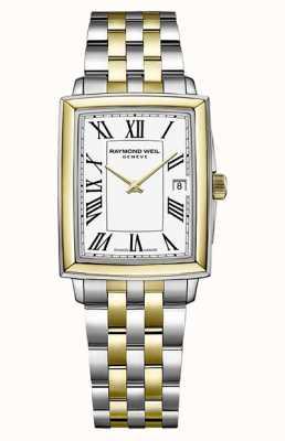 Raymond Weil Tocata feminina | pulseira de aço bicolor | mostrador branco 5925-STP-00300
