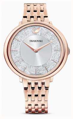 Swarovski Cristalino | pulseira de aço banhado a ouro rosa | mostrador de brilho 5544590