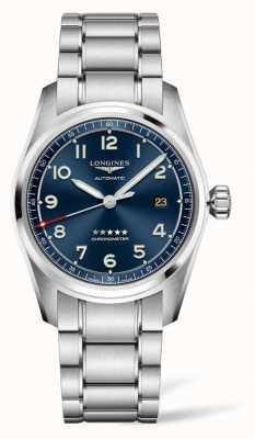Longines Spirit prestige edition azul mostrador em aço inoxidável 40 mm L38104939