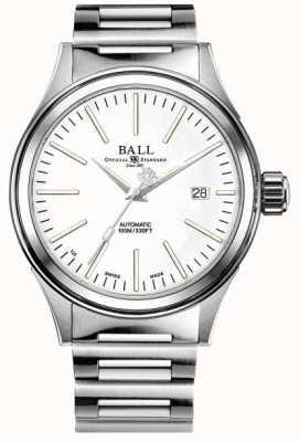 Ball Watch Company Empresa bombeiro | pulseira de aço inoxidável | mostrador branco NM2188C-S20J-WH