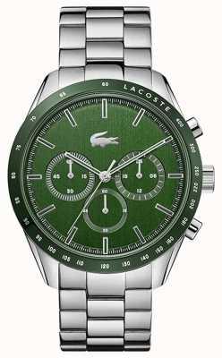 Lacoste | homens | boston | pulseira de aço inoxidável | mostrador verde | 2011080
