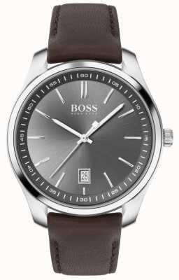 BOSS   mens   conjunto de presente   circuito   pulseira de couro marrom 1570083