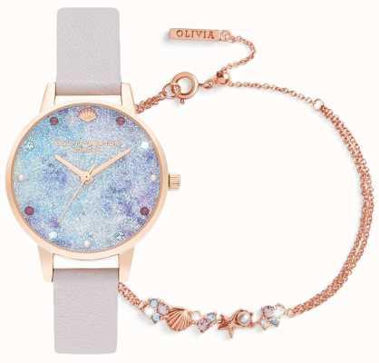 Olivia Burton | no fundo do mar | conjunto para presente de relógio e pulseira | lilás | OBGSET142