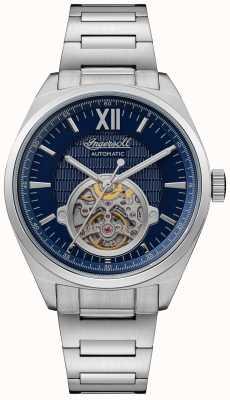 Ingersoll A pulseira de aço inoxidável com mostrador automático shelby azul I10902