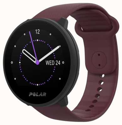 Polar | unir | pulseira de silicone ameixa | caixa preta | 90083110