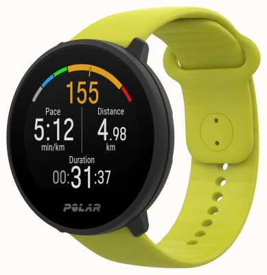 Polar | unir | pulseira de silicone verde limão | caixa preta | 90083111