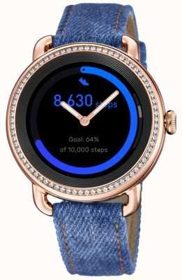 Festina Smartime   pulseira de ganga para senhora   tela colorida   conjunto de cristal   alça adicional F50002/1