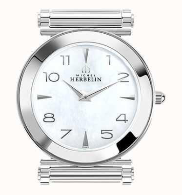 Michel Herbelin Antarès | relógio de aço inoxidável apenas | madrepérola H.17443/19
