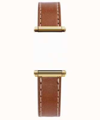 Michel Herbelin Antarès | Harrison Gold | pulseira intercambiável de couro marrom apenas (ouro) BRAC.17048.02/P
