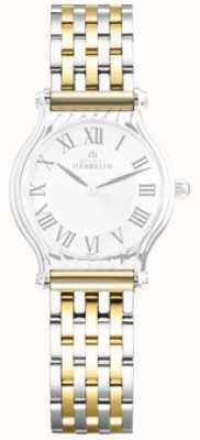 Michel Herbelin Antarès | pulseira intercambiável de aço inoxidável de dois tons apenas BRAC.17048/T