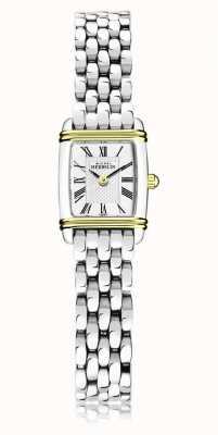 Michel Herbelin Art déco | pulseira de aço inoxidável para senhora | caixa ouro / prata 17438/T08B