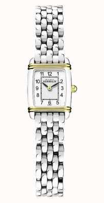 Michel Herbelin Art déco | pulseira de aço inoxidável para senhora | mostrador branco 17438/T22B