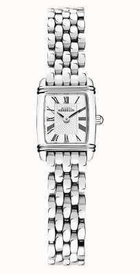 Michel Herbelin Art déco | pulseira de aço inoxidável para senhora | mostrador branco 17438/08B