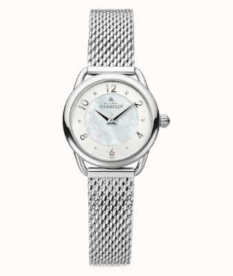 Michel Herbelin Equinoxe | pulseira em malha de aço para senhora | madrepérola mostrador 17497/29B