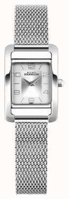 Michel Herbelin Avenida V | pulseira em malha de aço | mostrador retângulo prateado 17437/21B