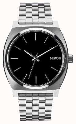 Nixon Caixa de tempo | preto | pulseira de aço inoxidável | mostrador preto A045-000-00