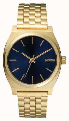 Nixon Caixa de tempo | todo ouro claro / cobalto | pulseira ip em ouro | mostrador azul A045-1931-00