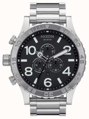 Nixon 51-30 crono | preto | pulseira de aço inoxidável | mostrador preto A083-000-00