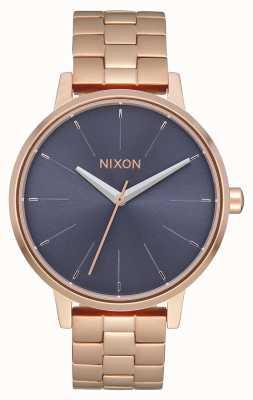 Nixon Kensington | ouro rosa / tempestade | pulseira ip em ouro rosa | mostrador azul A099-3005-00